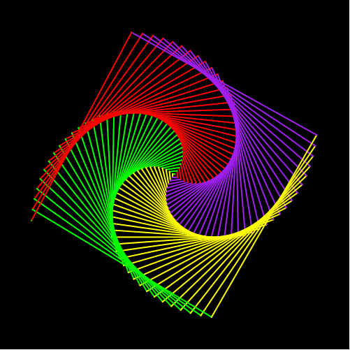 5 Racket Turtle examples with recursion